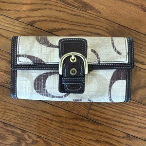 Coach Large Monogram Wallet